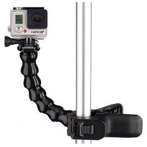 Jaws Flex Clamp Mount WITH Adjustable Neck For GoPro Action Camera