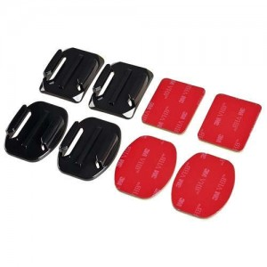 Curved Mounts with 3M Adhesive Pads For GoPro Action Camera