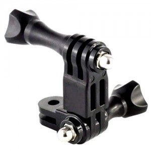 Three way adjustable pivot arm for gopro action camera