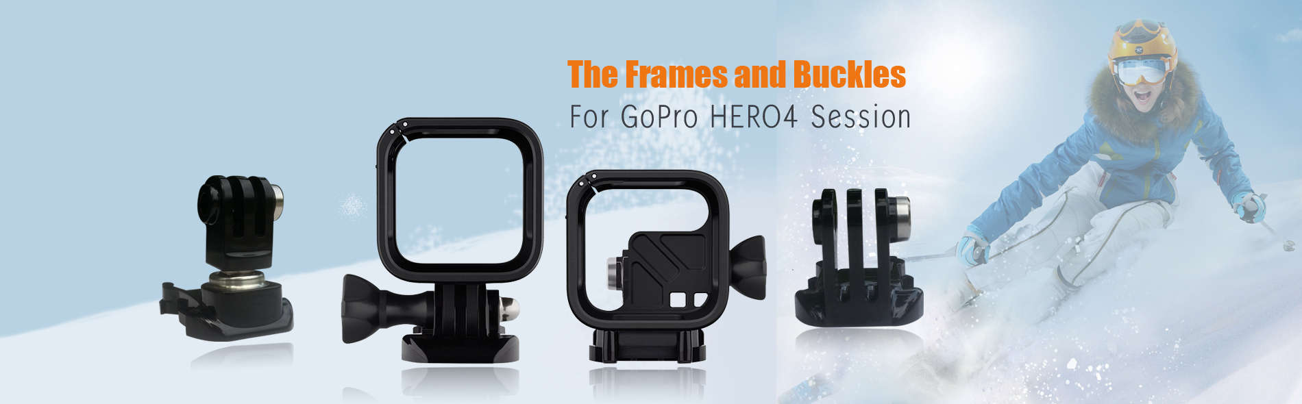 Frame-and-Buckles-for-GoPro-Action-Camera
